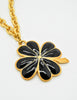 Karl Lagerfeld Vintage Black and Gold Shamrock Necklace - Amarcord Vintage Fashion  - 5