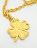 Karl Lagerfeld Vintage Black and Gold Shamrock Necklace - Amarcord Vintage Fashion  - 7