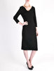 Katharine Hamnett Vintage Black Wool Wiggle Dress - Amarcord Vintage Fashion  - 4
