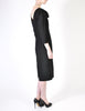 Katharine Hamnett Vintage Black Wool Wiggle Dress - Amarcord Vintage Fashion  - 8