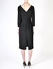 Katharine Hamnett Vintage Black Wool Wiggle Dress - Amarcord Vintage Fashion  - 9
