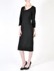 Katharine Hamnett Vintage Black Wool Wiggle Dress - Amarcord Vintage Fashion  - 5