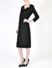 Katharine Hamnett Vintage Black Wool Wiggle Dress - Amarcord Vintage Fashion  - 7