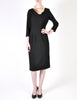 Katharine Hamnett Vintage Black Wool Wiggle Dress - Amarcord Vintage Fashion  - 2