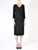 Katharine Hamnett Vintage Black Wool Wiggle Dress - Amarcord Vintage Fashion  - 3