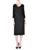Katharine Hamnett Vintage Black Wool Wiggle Dress - Amarcord Vintage Fashion  - 1