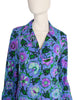 Ken Scott Vintage 1970s Purple Floral Print Shirt Dress