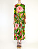 Ken Scott Vintage Vibrant Floral Print Maxi Dress - Amarcord Vintage Fashion  - 2