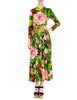 Ken Scott Vintage Vibrant Floral Print Maxi Dress - Amarcord Vintage Fashion  - 1