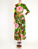 Ken Scott Vintage Vibrant Floral Print Maxi Dress - Amarcord Vintage Fashion  - 4