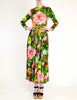 Ken Scott Vintage Vibrant Floral Print Maxi Dress - Amarcord Vintage Fashion  - 5