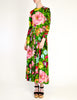 Ken Scott Vintage Vibrant Floral Print Maxi Dress - Amarcord Vintage Fashion  - 6