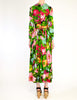 Ken Scott Vintage Vibrant Floral Print Maxi Dress - Amarcord Vintage Fashion  - 8