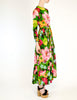 Ken Scott Vintage Vibrant Floral Print Maxi Dress - Amarcord Vintage Fashion  - 7