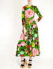 Ken Scott Vintage Vibrant Floral Print Maxi Dress - Amarcord Vintage Fashion  - 3