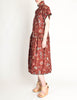 Kenzo Vintage Burgundy Floral Oversized Dress