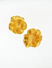 Kenzo Vintage Gold Flower Earrings - Amarcord Vintage Fashion  - 2
