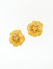 Kenzo Vintage Gold Flower Earrings - Amarcord Vintage Fashion  - 5