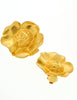 Kenzo Vintage Gold Flower Earrings - Amarcord Vintage Fashion  - 4