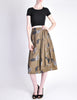 Kenzo Vintage Green Leaf Print Wrap Skirt - Amarcord Vintage Fashion  - 4