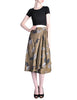 Kenzo Vintage Green Leaf Print Wrap Skirt - Amarcord Vintage Fashion  - 1
