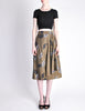 Kenzo Vintage Green Leaf Print Wrap Skirt - Amarcord Vintage Fashion  - 2