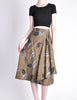 Kenzo Vintage Green Leaf Print Wrap Skirt - Amarcord Vintage Fashion  - 3