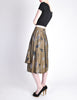 Kenzo Vintage Green Leaf Print Wrap Skirt - Amarcord Vintage Fashion  - 6