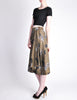 Kenzo Vintage Green Leaf Print Wrap Skirt - Amarcord Vintage Fashion  - 7