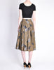 Kenzo Vintage Green Leaf Print Wrap Skirt - Amarcord Vintage Fashion  - 8