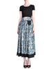 Kenzo Vintage Jungle Jap Green Floral Full Skirt - Amarcord Vintage Fashion  - 1