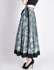Kenzo Vintage Jungle Jap Green Floral Full Skirt - Amarcord Vintage Fashion  - 4