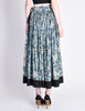 Kenzo Vintage Jungle Jap Green Floral Full Skirt - Amarcord Vintage Fashion  - 6