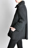 Krizia Vintage Black Fuzzy Wool Coat - Amarcord Vintage Fashion  - 3