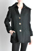 Krizia Vintage Black Fuzzy Wool Coat - Amarcord Vintage Fashion  - 4