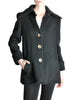 Krizia Vintage Black Fuzzy Wool Coat - Amarcord Vintage Fashion  - 1