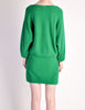 Krizia Vintage Green Butterfly 3-Piece Sweater Skirt & Top Set - Amarcord Vintage Fashion  - 7