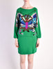 Krizia Vintage Green Butterfly 3-Piece Sweater Skirt & Top Set - Amarcord Vintage Fashion  - 5