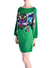 Krizia Vintage Green Butterfly 3-Piece Sweater Skirt & Top Set - Amarcord Vintage Fashion  - 1