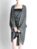 Krizia Vintage Black and Silver Oversized Cardigan - Amarcord Vintage Fashion  - 4