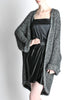 Krizia Vintage Black and Silver Oversized Cardigan - Amarcord Vintage Fashion  - 2