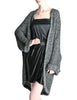 Krizia Vintage Black and Silver Oversized Cardigan - Amarcord Vintage Fashion  - 1