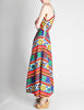 Lanvin Vintage Multicolor Graphic Floral Print One-Shoulder Maxi Dress - Amarcord Vintage Fashion  - 5
