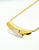 Lanvin Vintage Gold & Silver Modernist Choker Necklace - Amarcord Vintage Fashion  - 2