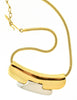 Lanvin Vintage Gold & Silver Modernist Choker Necklace