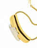 Lanvin Vintage Gold & Silver Modernist Choker Necklace - Amarcord Vintage Fashion  - 4
