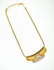 Lanvin Vintage Gold & Silver Modernist Choker Necklace - Amarcord Vintage Fashion  - 6