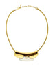 Lanvin Vintage Gold & Silver Modernist Choker Necklace - Amarcord Vintage Fashion  - 1