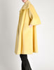 Lilli Ann Vintage Banana Yellow Wool Mohair Swing Coat - Amarcord Vintage Fashion  - 8