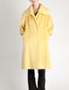 Lilli Ann Vintage Banana Yellow Wool Mohair Swing Coat - Amarcord Vintage Fashion  - 6